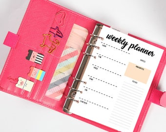 Weekly in one page-week in a page, printable, A5, planner