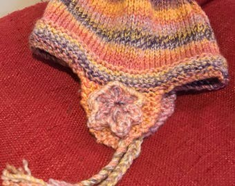 Handmade knitted child's hat