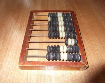 Abacus, Soviet Abacus, Vintage Abacus, Wooden Kids Vintage Abacus, Old Abacus, Russian Abacus, Wooden Toy, Old Calculator, Vintage Toy