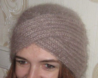 Fluffy turban hat