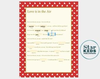 Love Is In the Air Mad Lib  **printable, digital, Google Slides, & interactive pdf **