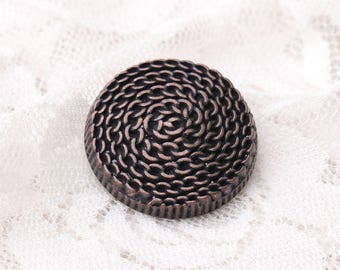 10pcs 25*10mm large round shank buttons metal copper buttons coat buttons chain spiral pattern