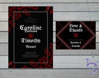 Wedding Invitation & Thank You Cards