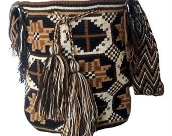 Wayuu Bag-Wayúu rhombus stars Backpack