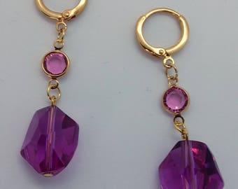 """Earrings """"Meteorite pink"""""""