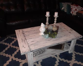Shabby Chic distressed coffee table