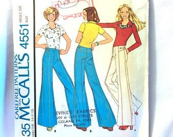 McCalls 4551,  McCalls Sewing Pattern 4551, McCalls Pattern 4551, Vintage Pattern, Womens Pants, Womens Top, Size 8, UNCUT, Factory Fold