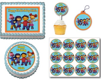 Sid the Science Kid Birthday Edible Cake Topper, Plastic Cupcake Picks, Gift Tags or Stickers