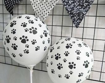 Paw patrol paw print ballons