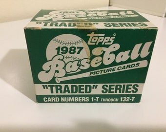 1987 Topps Baseball Traded Series Factory Set (132 Cards)