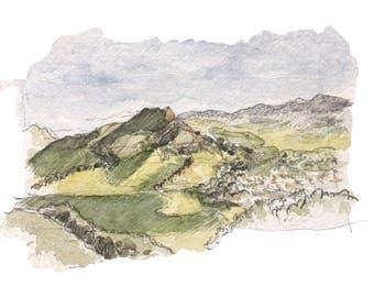 SAN LUIS OBISPO landscape, print