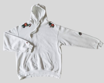 Hoodie with flower patch