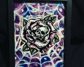 Webbed Skull Rose