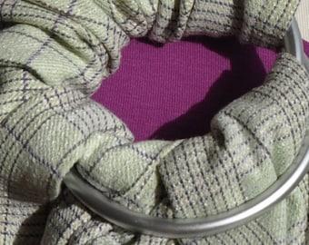 Diamond Green/Purple Baby Ring Sling Sling Carrier 180-250 x 70 cm custom made