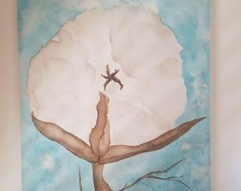 Cotton Boll Watercolor