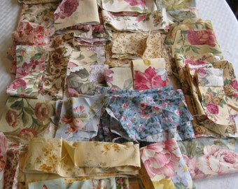Stash-Buster Floral Cotton Quilting Fabric Scraps