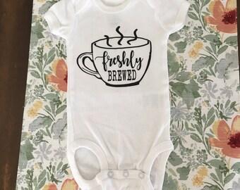 Freshly Brewed Baby Onesie