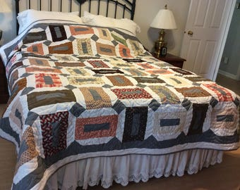 """A """"cottage""""style quilt."""