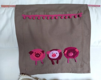 Organizer fabric pigs