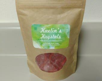 Pomegranate Hard Candy Kaelin's Krystals Homemade Rock Candy