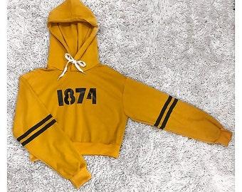 1874 Sigma Kappa cropped hoodie