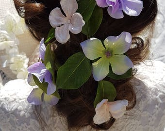 Hydrangea love handmade floral headpiece