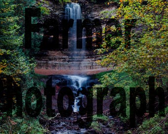 Photo Print Munising Falls