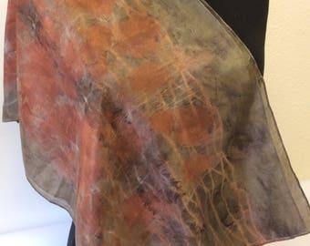 Eco Printed Silk Scarf