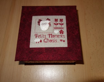 box cardboard time cross stitch