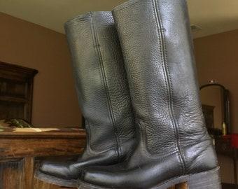 Vintage FRYE black leather riding boots