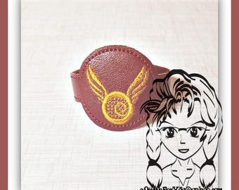 HP GoLD SNiTCH WRiSTBaND ArM CaNDY Snap Tab 4 Holidays Birthday ~ In the Hoop ~ Downloadable DiGiTaL Machine Embroidery Design by Carrie