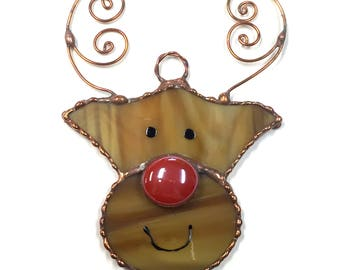 Stained Glass Reindeer