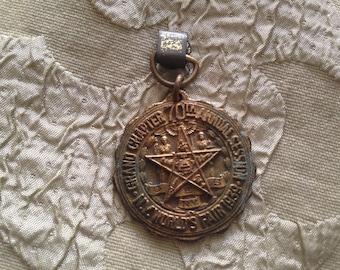Free Mason Masonic Medallion Fob 1939 NY World's Fair Grand Chapter 70th Annual Session Heavy Brass