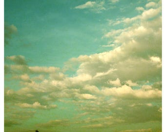Cloud Photography - Sky Photograph - Nature Photograph - Fine Art Photograph - Almost Home - Bock - Sky Photography - Green Art - Home Decor