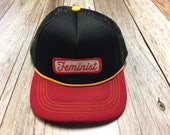 """Infant/Toddler Trucker Hat with """"Feminist"""" Pa..."""