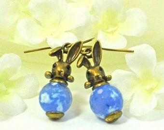 Bronze Bunny Rabbit Earrings Kya and Skye - Bunny Rabbit Jewelry - Bunny Earrings - Bunny Jewelry - Pet Rabbit - Woodland Animal - Nature