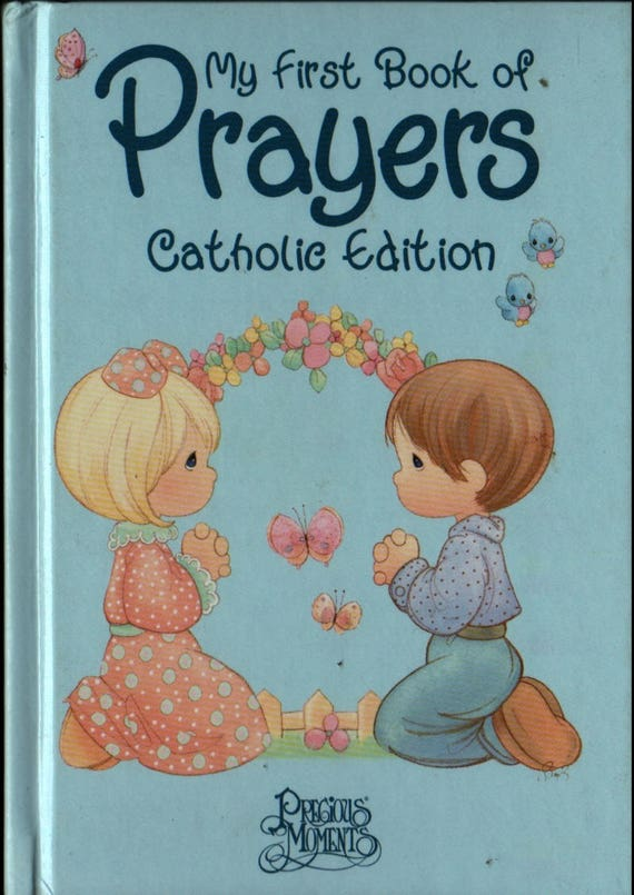 Precious Moments + My First Book of Prayers Catholic Edition + Samuel Butcher + 2000 + Vintage Religious Book