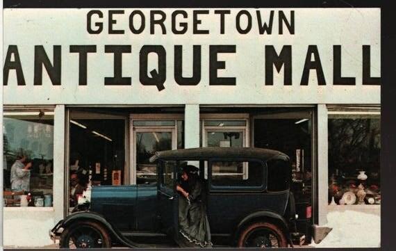 Georgetown Antique Mall - Kentucky - Vintage Souvenir Postcard