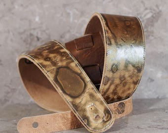 Stone Age Leather Guitar Strap