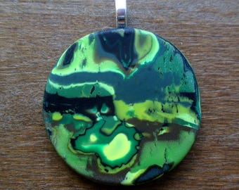 Green Goblin Polymer Clay Pendant