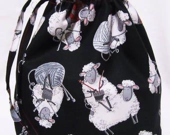 Medium Box Bottom Knitting Project Bag