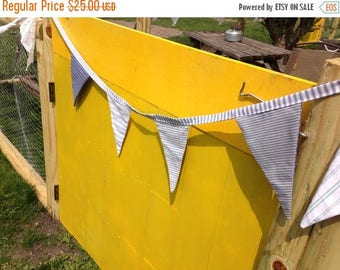 MEMORIAL DAY SALE- Striped  Bunting-Vintage Collection-For the Boys-Nautical
