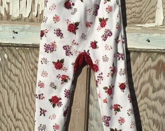 40% OFF- Big Butt Pants-Cottage Floral-Recycled Clothing-Jersey Cotton-9-12 Months