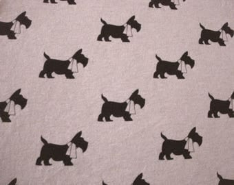Scottie Dogs Interlock Knit Fabric