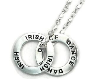 IRISH DANCE Stacking Message Ring Necklace Gift Boxed