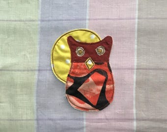 Owl Moon Patch, Appliquéd Embroidered Badge