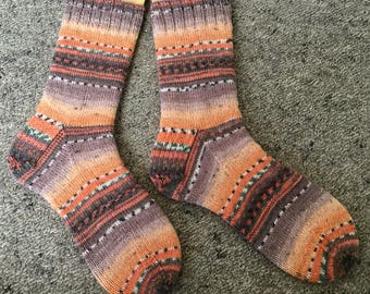 Handmade Knit Socks - custom made to order