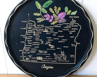 vintage Oregon souvenir tray 2