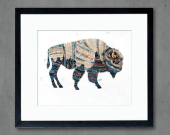 Animals of North America: Bison Art Print