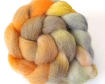 Hand Dyed Roving Combed Wool Top Whitefaced Woodland 100g WW31